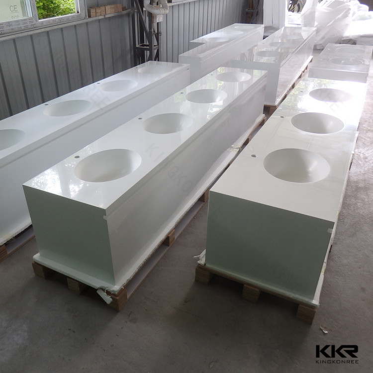 Cream Colored Quartz Countertops Molded Sink Kitchen Countertop