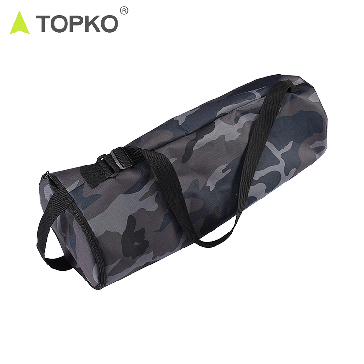 TOPKO Groothandel biologische carrying mesh canvas materiaal carry yoga mat tas