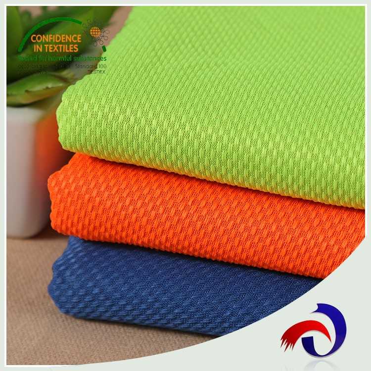 Wholesale knit dry fit 100% Polyester mesh sportswear fabric for clothing