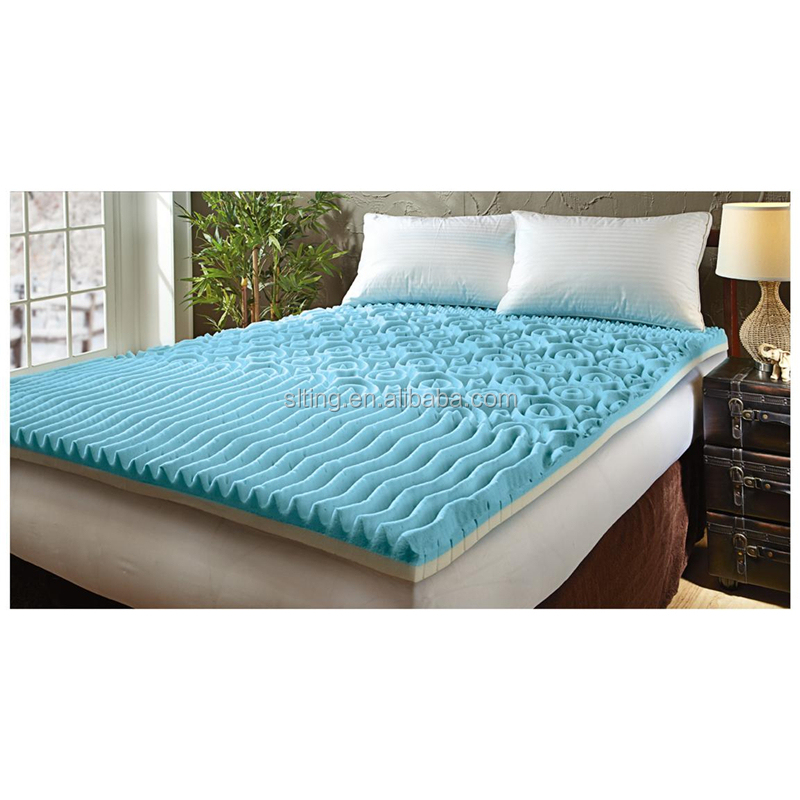 """Mattress Topper Gel Memory Foam 2/"""" Orthopedic Pad Bed Cover Firm Queen"""