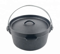 Seasoned Cast Iron Dutch Oven without Legs