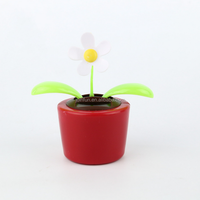custom novelty solar powered dancing sunflower dashboard toy for car
