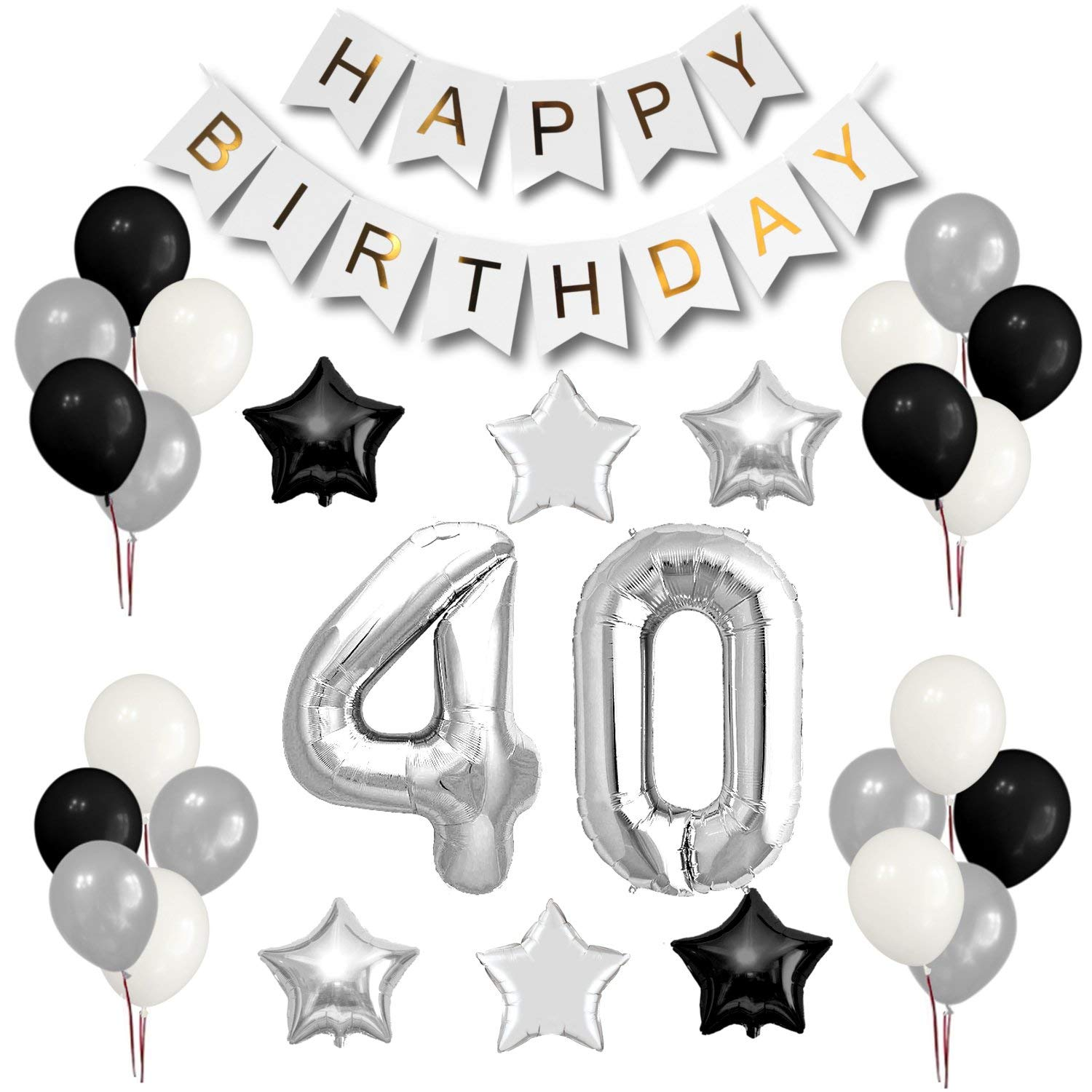 Get Quotations 40th Birthday Party Decorations Set
