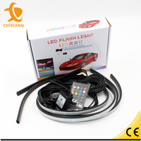 7 color Undercar Lights RGB Under car Neon Light Kit w/ Wireless Remote controller Under car Neon Light