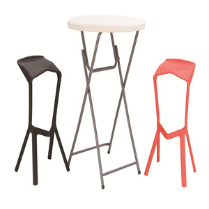 hot sales plastic 80cm round folding table high bar table for cocktail