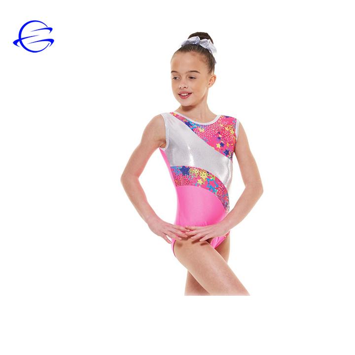 Fabrika Fiyat Yeni Tasarım Süblimasyon Polyester Spor Mayoları Takım Elbise Özel Kız Dans Mayoları Kolsuz Jimnastik Mayoları