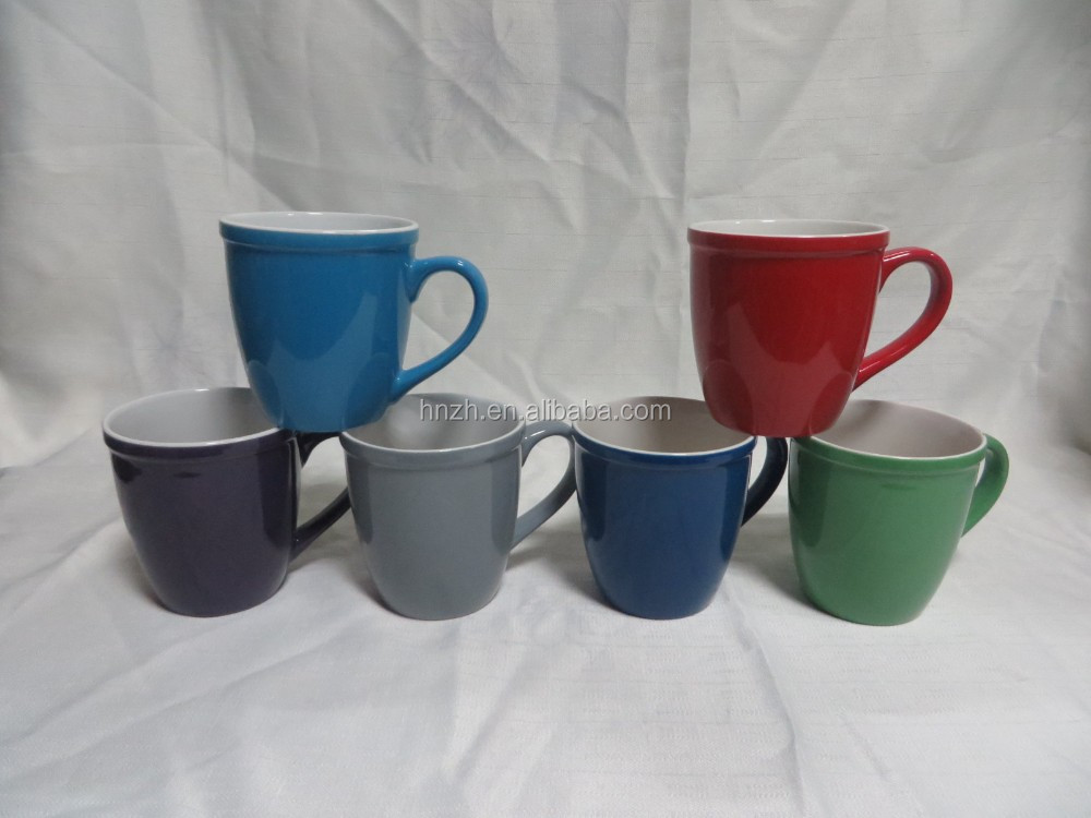 16oz belly shape ceramic cups large coffee mugs personalized