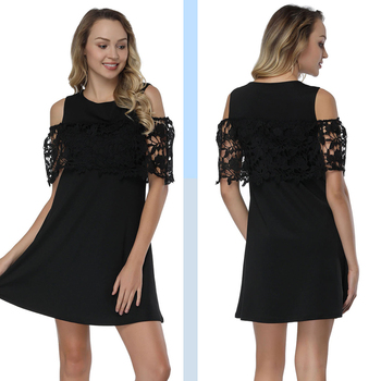 d2d5697a85 Plus Size Black Lace Deep African Women Latest Dress Designs for Ladies