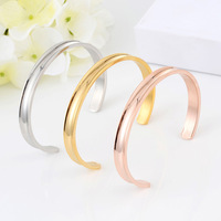 2018 New Luxury Design Stainless Steel Bracelets & Bangles pulsera Men Women Love for women Simple bracelet gift
