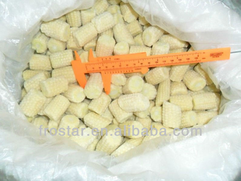 Frozen baby corn cobs dia 12-20mm natural length
