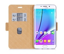 New Arrival Funky Leather Mobile Phone Flip Case For Sumsung S6