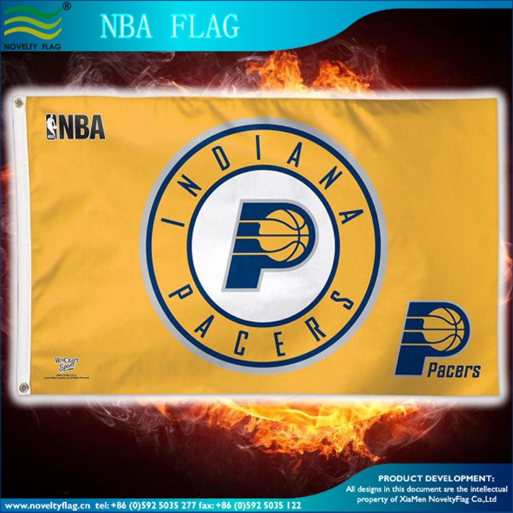 Indiana Pacers basketball team flag Indiana Pacers pennant Indiana Pacers basketball balloon stick clapper for sport team