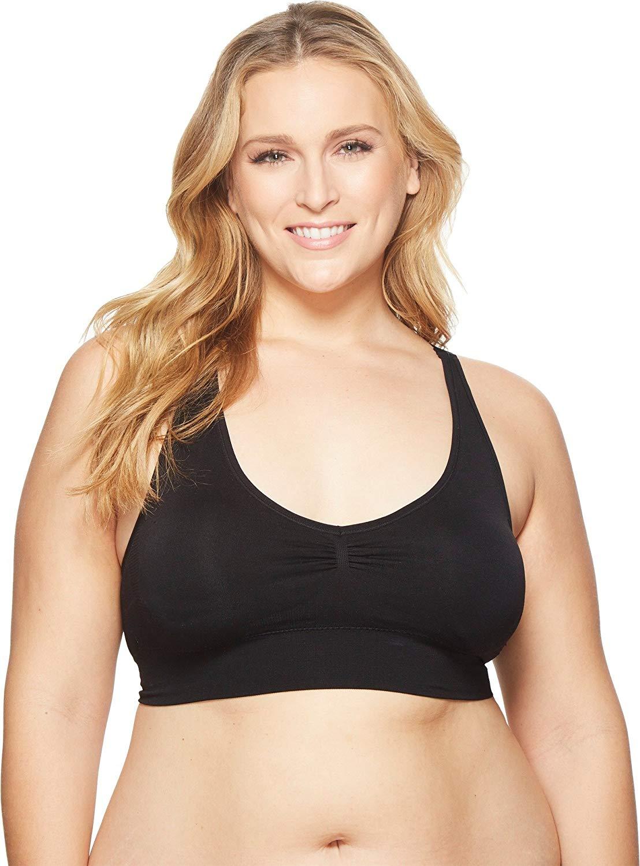 2f91a158b8e Get Quotations · Coobie Womens Plus Size Racerback Yoga Fusion Bra