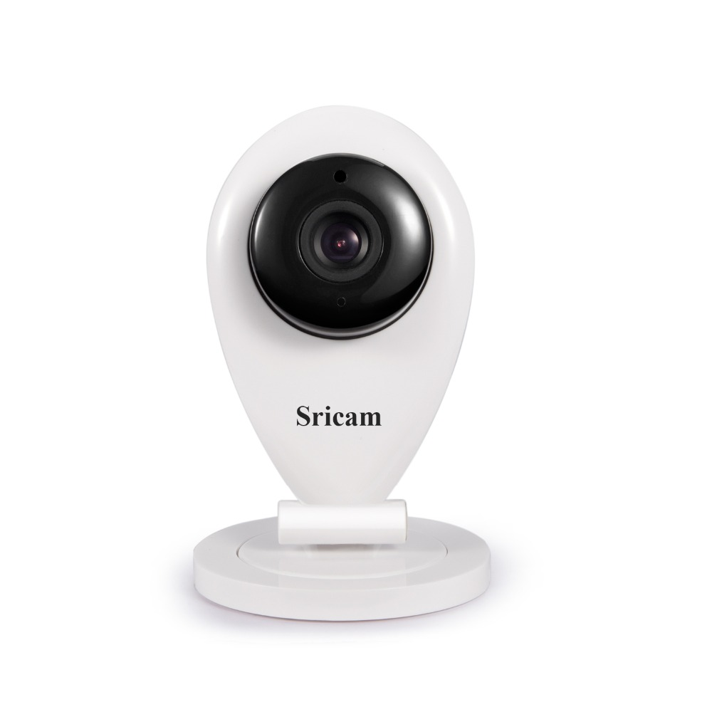 Sricam 720P indoor mini baby alarm CCTV Camera Wireless H.264 IP P2P wireless baby monitor with SD Card slot