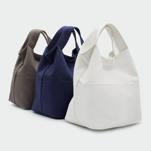 Handle Canvas Tote Bag With Customized Logo