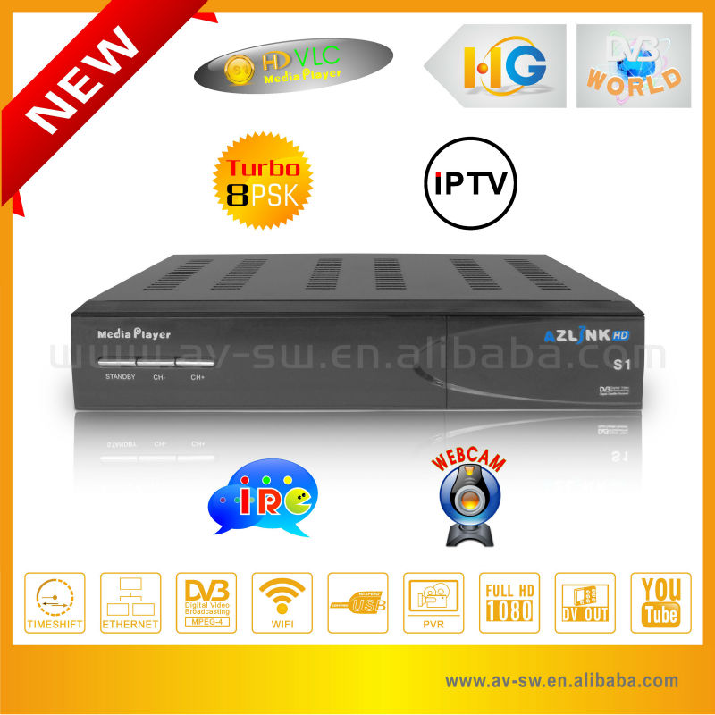 Full HD media player AZLINK HD S1 <strong>satellite</strong> receiver build in LINUX IPTV decoder pk dreamlink hd receiver