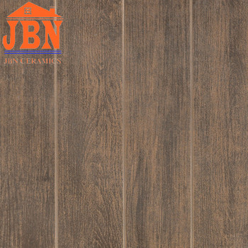 40x40 Dark Brown Wood Look Floor Tiles Ceramic Kitchen