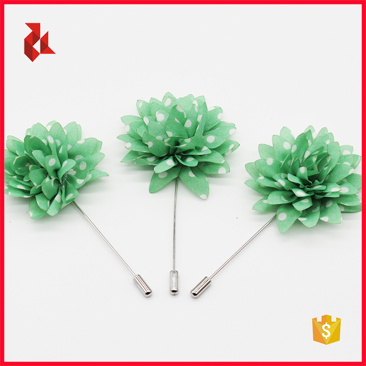 Hot Sale Mens Green Flower Lapel Pin Boxes