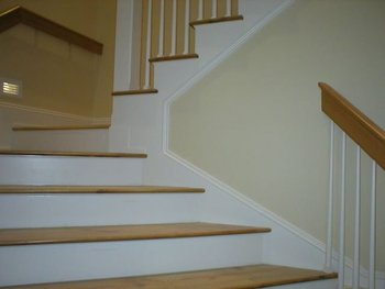 Wood Stairs Parts  Stair Treads And Risers With Round Balusters
