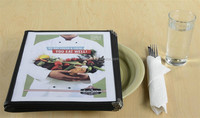 Cheapest multiple PVC menu display wine list holder for coffe bar
