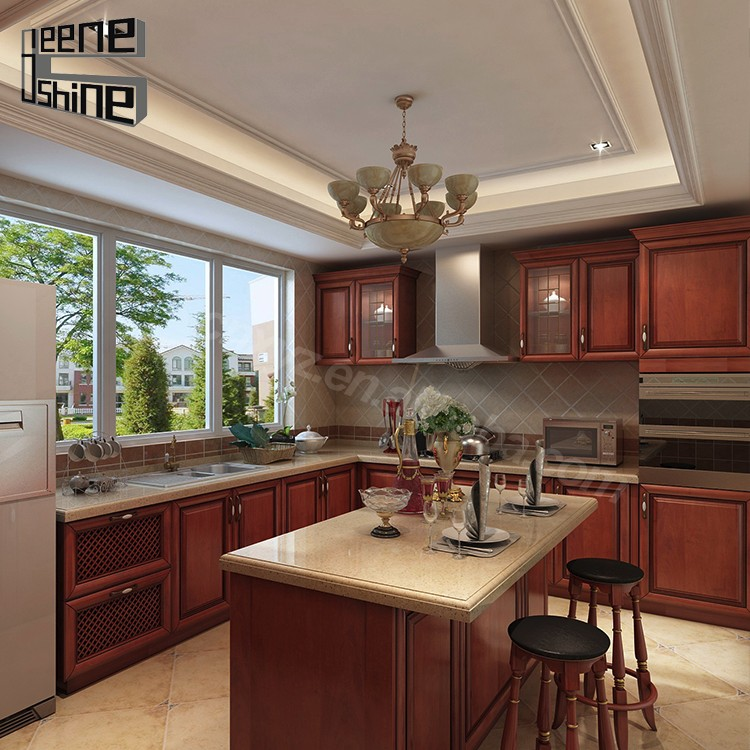 Imported Modern Termite Proof Solid Wood Modern Kitchen ...