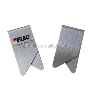 Promotional Custom Printed Wing Shape Flat Metal Stainless Steel Paper Money Clip