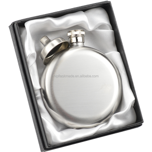New style stainless steel 5oz Round Flask color black /Red/Hot pink/Blue /sliver,Mixed color available,logo free engraved