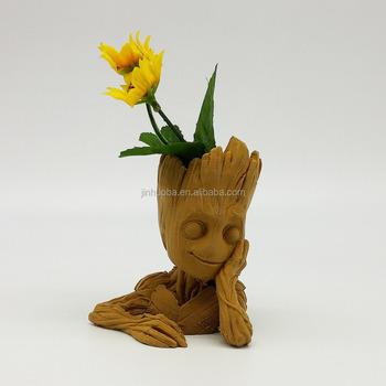 Handmade Cute Flower Pot Dancing Baby Groot Figurine Buy Holding