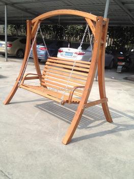 Wooden Swing Chair Wooden Bench Swing Seat Hammock Chair Patio 2