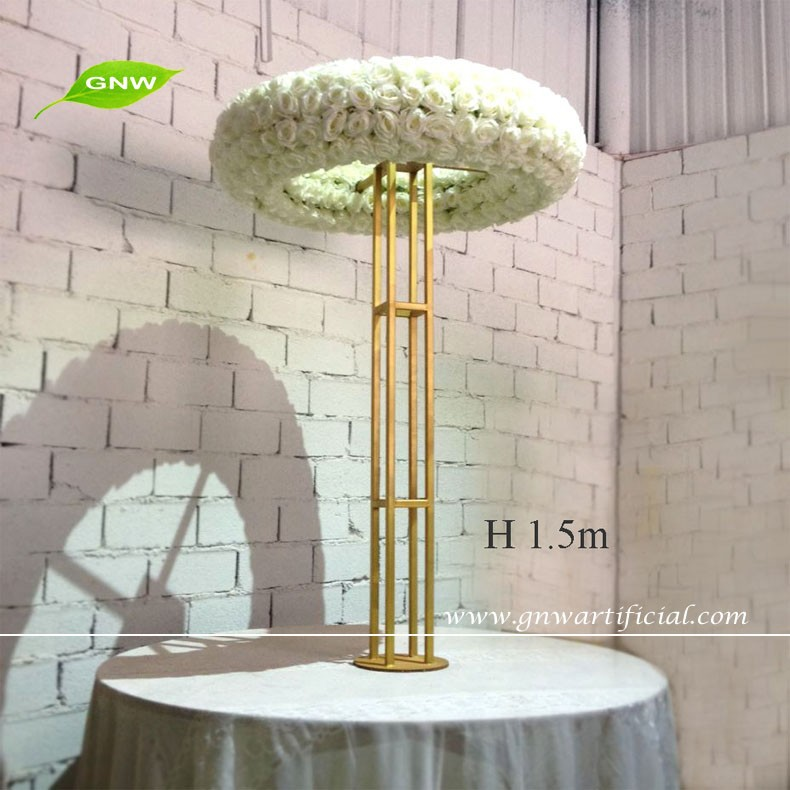Gnw 5ft Whole Table Top Chandelier Centerpieces For Weddings With Big Artificial Rose Flowers