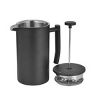 Amazon product 800ml double wall french press filter stainless steel cafetier french coffee press 34 oz tumblers