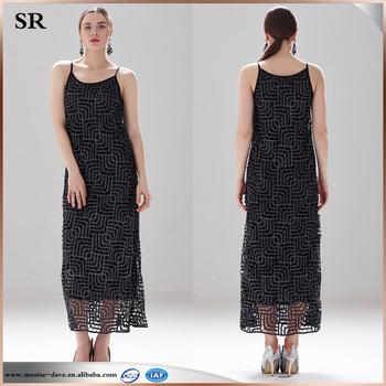 gehaakte lange jurk