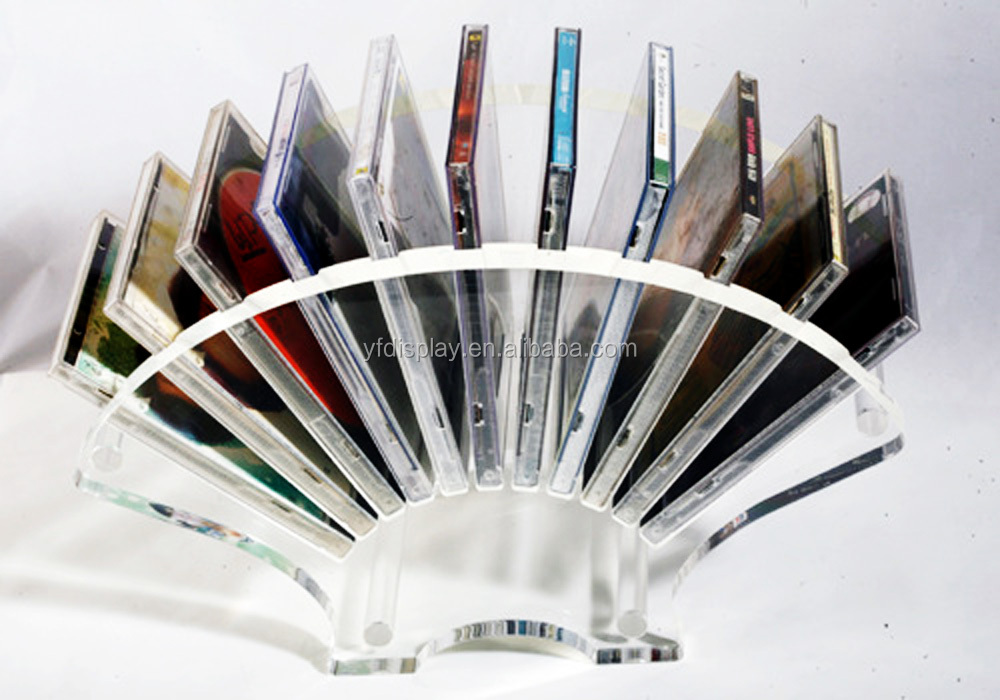 cheap acrylic CD display rack