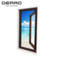 Double Tempered Glass Outward Wood and Aluminium Partition Door