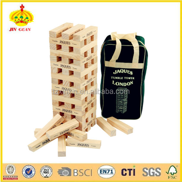 product detail outdoor wooden jenga game for building blocks adult children