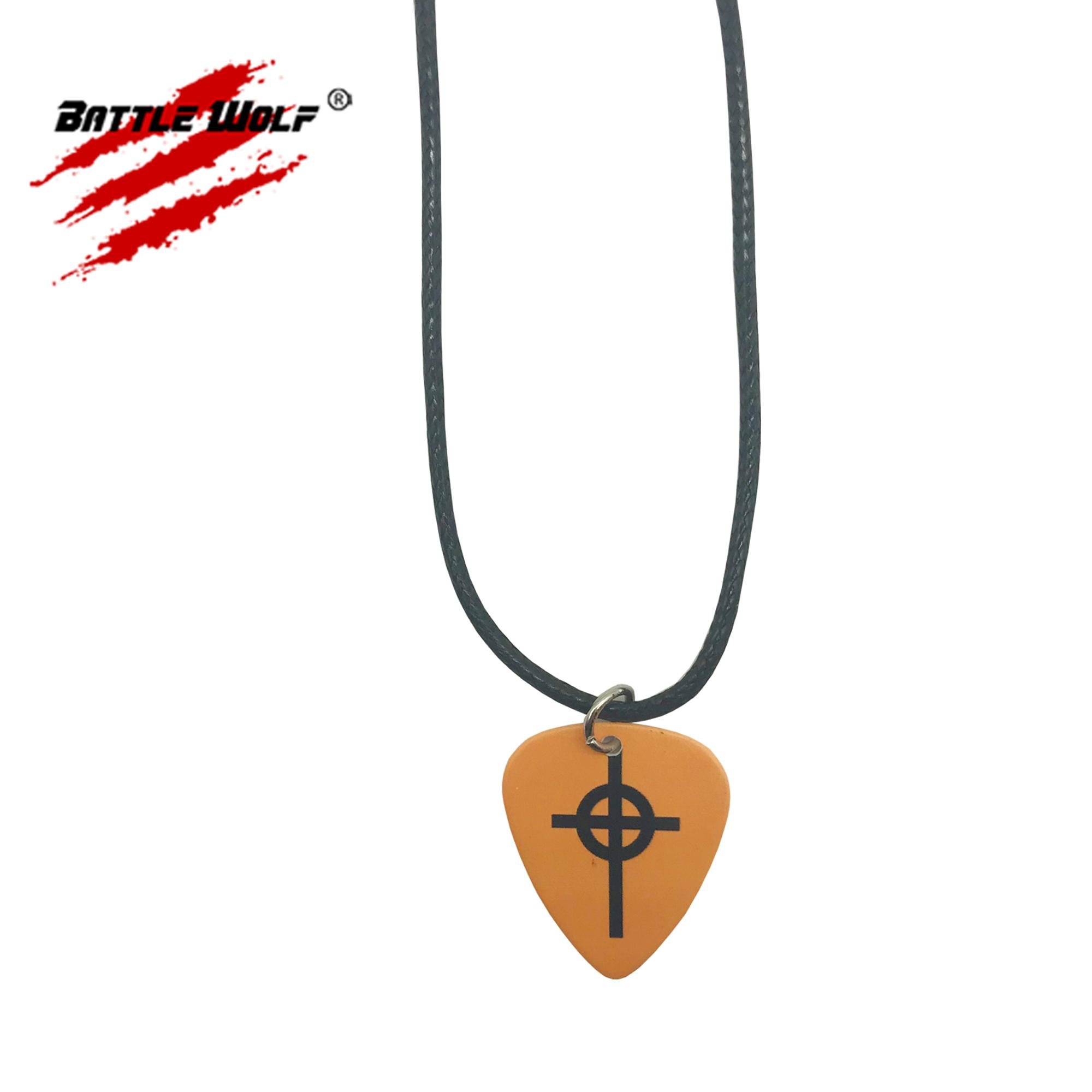 Color Printing Guitar Picks Custom Logo Pendant Necklace