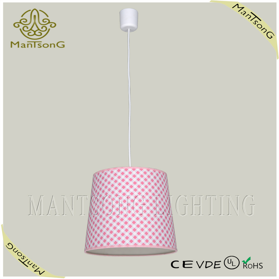 2015 hot sale modern style fabric and plastic pendant light for living room
