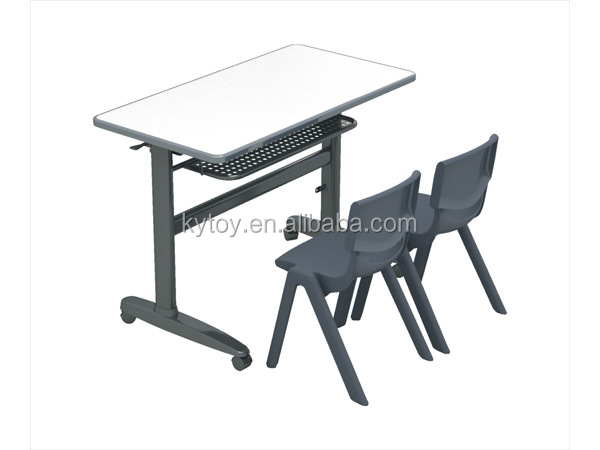 Hot sale kids double school desk and chair