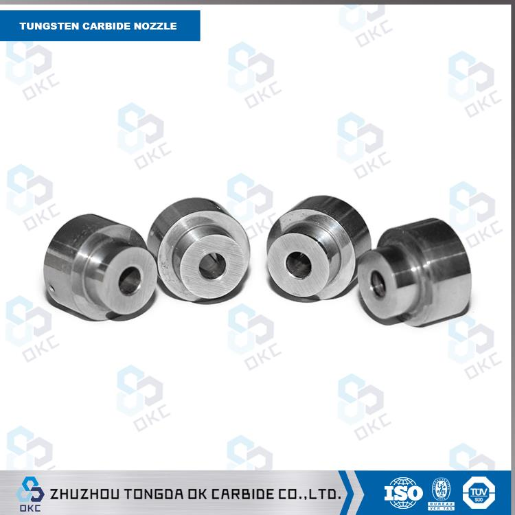 High wear resistance cemented carbide sandblasting nozzle