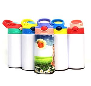 Photo Thermal Transfer 316 Stainless Steel Sublimation Thermos Bottle with Straw