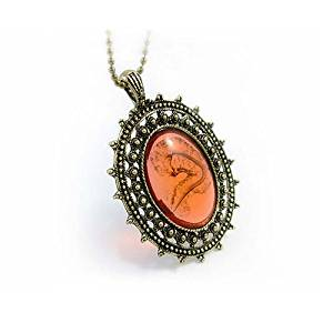 cytprimedesign Vintage Imitate Amber Pendant Sweater Chain Necklace