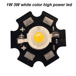 LED Bridgelux chip high power led 3W warm white with PCB star