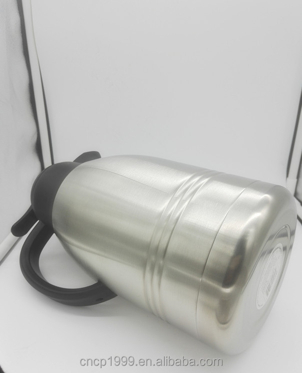 Big capacity 2L stainless steel vacuum travel kettle ,double wall pot, do heat transfer on it