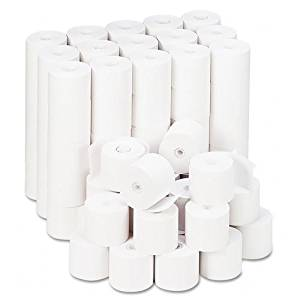 """Universal : Single-Ply Adding Machine/Calculator Rolls, 16lb, 2-1/4"""" x 165 ft, White, 100/CT -:- Sold as 2 Packs of - 100 - / - Total of 200 Each"""