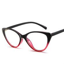 Brightzone 8 цветов винтажные прозрачные компьютерные поддельные очки для женщин оправа «кошачий глаз» близорукость очки модные цветочные очки(Китай)