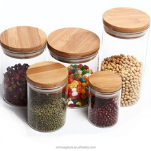 Kitchen Accessories Handblown Storage Canisters Glass Jar Samll Jam Jar