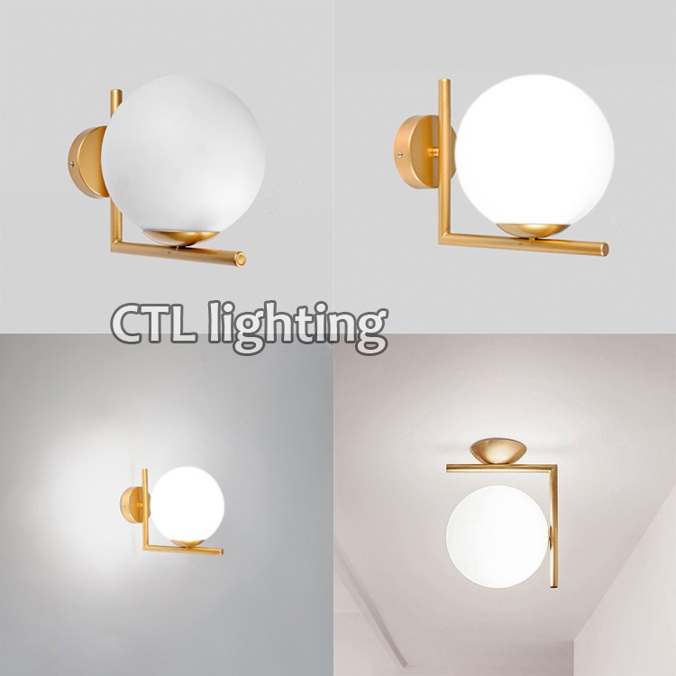 2020 New Design Hotel Bedroom Wall Sconce Glass Modern Wall Lamp For Home