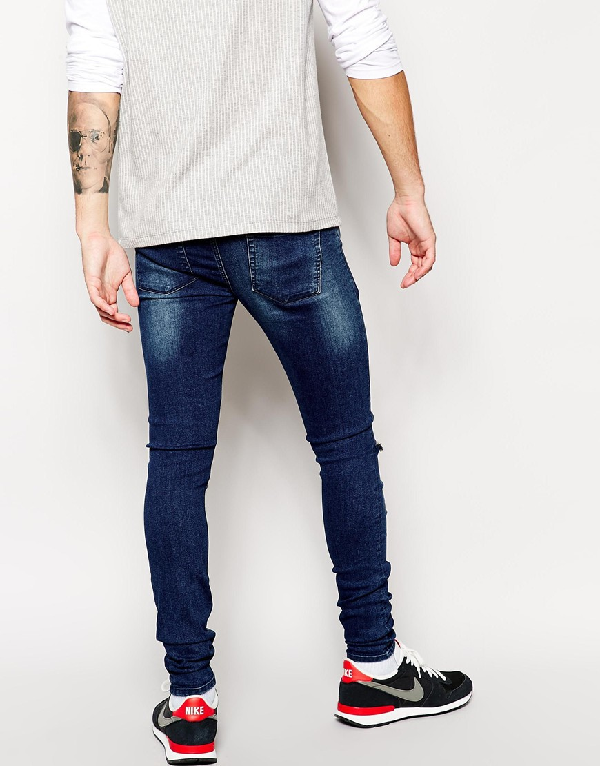Extreme Super Skinny Ripped Jeans For Men - Buy Ripped Jeans,Super ...