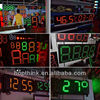 P20 Single color outdoor led clock time date temperature sign