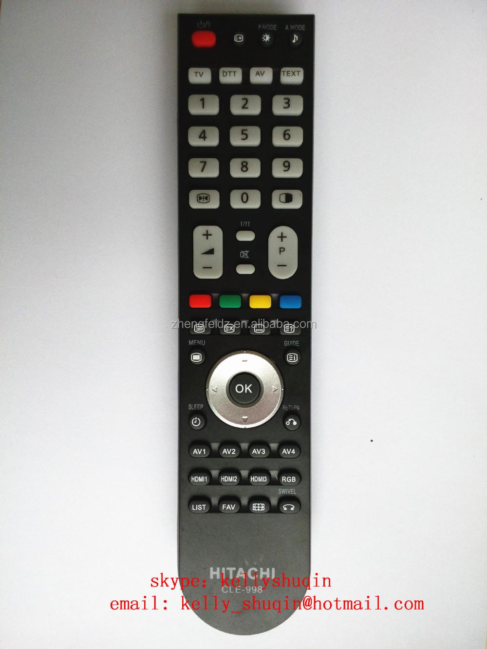 hitachi tv remote. lcd remote control for tv hitachi cle-998 cle-984 r